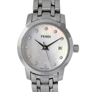 フェンディクラシコ0572100L740FENDIホワイトシェル文字盤レディースクォーツ腕時計ブランド【中古】