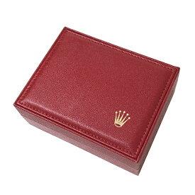 ロレックス ROLEX 収納ケース 腕時計用 レディース 空き箱 BOX 箱 保存箱 外箱 内箱 赤 レッド 女性 ブランド 【中古】