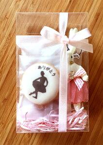 【B900G】名入れができるバレエ発表会の記念品、プレゼントにぴったりのオーダーメイドアイシングクッキーとチュチュうさぎ | お菓子3点とチャームのプチギフト(注文は5セット以上・1セッ