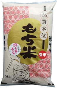 【もち米 玄米】滋賀羽二重餅(しがはぶたえもち)もち玄米5kg 令和2年産