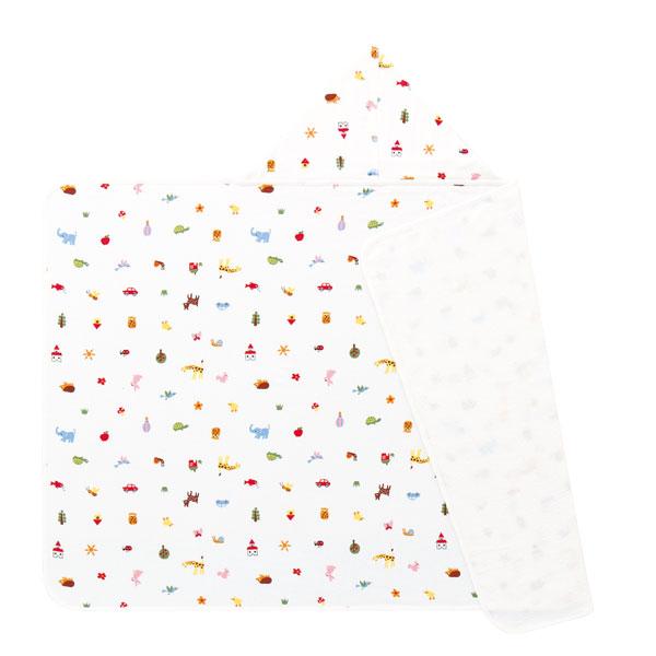(送料無料)アッコトトBAプチポエムフード付き バスタオル 約70×150cm/フード部分含まず ウチノ タオル【内野タオル】 ギフト対応 贈り物 プレゼント 自分用