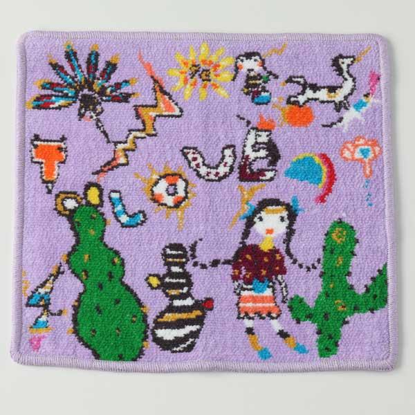 ツモリチサトTSUMORICHISATOセドナ タオルハンカチ バイオレット 約25×25cm(内野)【内野タオル】 ギフト対応 贈り物 プレゼント綿100%で、ベルベットのような高級感あふれる仕上がり、良質な綿ならではのソフトな風合いのミニタオル