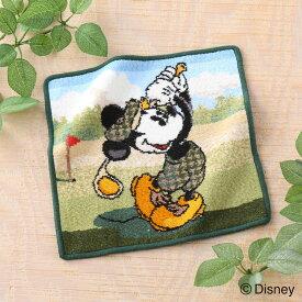 Disney(ディズニー)ミッキーゴルフ タオルハンカチ 約25×25cm ウチノ タオル【内野タオル】 ギフト対応 贈り物 プレゼント 入園グッズ 入園祝い【D】