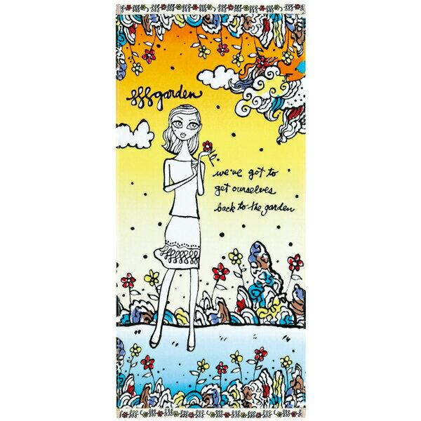 JeffreyFulvimari(ジェフリー・フルビマーリ)JFサニーガーデン フェイスタオル 約34×75cm ウチノ タオル【内野タオル】綿100%ギフト対応 贈り物 プレゼント 自分用