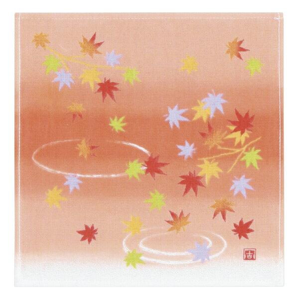 (SALE)いにしへ華もみじ タオルハンカチ ガーゼ 約24×25cm ウチノ タオル【内野タオル】