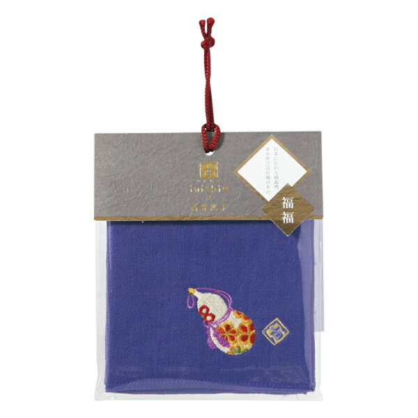(SALE)いにしへ福福 タオルハンカチ ひょうたん無撚糸ガーゼ 約25×25cm ウチノ タオル【内野タオル】