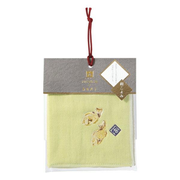 (SALE)いにしへ和こよみ タオルハンカチ たいやき無撚糸ガーゼ 約25×25cm ウチノ タオル【内野タオル】