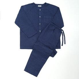 【送料無料】(内野)UCHINO【快眠パジャマ】マシュマロガーゼメンズノーカラーパジャマ ギフト 贈り物 プレゼント