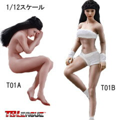 【TBLeague】1/12scale female seamless body with metal skeleton PHMB2018-T01A T01B TBリーグ 1/12スケール シームレス女性ボディ (ヘッドつき)