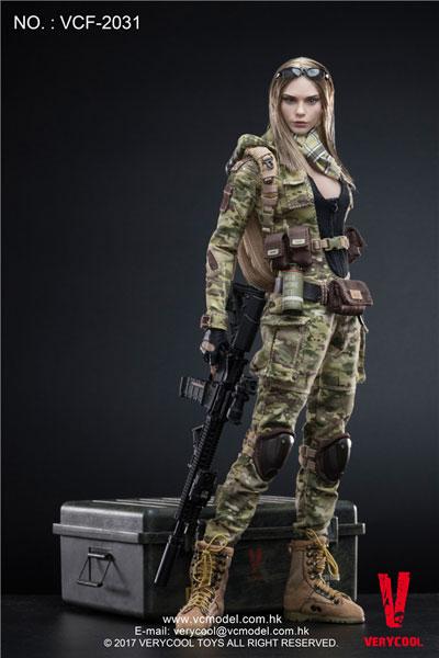 【VeryCool】VCF2031 1/6 MC Camouflage Women Soldier Villa 女性兵士 ヴィッラ 1/6スケール女性フィギュア