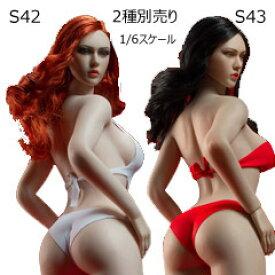 【TBLeague】Female Super Flexible Seamless Bodies head sculpt included PLLB2020-S42 (pale) S43 (suntan) TBリーグ 1/6スケール シームレス女性ボディ (女性ヘッド&スタンド付属)