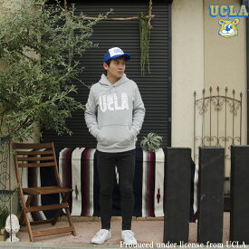 送料無料 UCLA(ユーシーエルエー)UCLAロゴパーカー 8.4oz裏毛