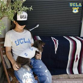 """送料無料 OUTLET SALE 50%OFF!! UCLA(ユーシーエルエー) Tシャツ メンズ レディース トライブレンドTシャツ """"パームツリーUCLAロゴ"""" MENS&DOG"""
