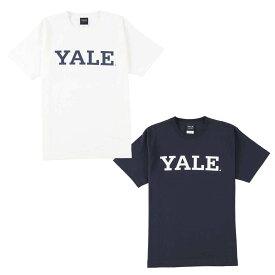 送料無料 OUTLET SALE 50%OFF!! YALE (イェール) Tシャツ メンズ レディース YALE-003 6.2oz ヘビーウエイト カレッジ ロゴ オープンエンドTシャツ アメカジ