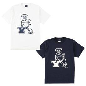 送料無料 OUTLET SALE 50%OFF!! YALE (イェール) Tシャツ メンズ レディース YALE-006 6.2oz ヘビーウエイト ドッグ キャラクター ロゴ オープンエンドTシャツ アメカジ