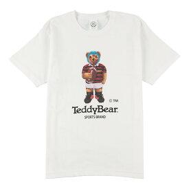 送料無料 TEDDY BEAR (テディベア) Tシャツ メンズ レディース ラガーマン Tee 6.2oz ヘビーウエイト ロゴ TDBR-032 オープンエンドTシャツ アメカジ