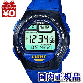 チープカシオ W-734J-2AJF running watch sports gear blue blue CASIO カシオチプカシチープカシチプカシオプレゼントアスレジャー
