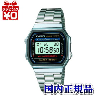 A 168WA-1 Casio standard men's watch for daily use waterproof resin glass domestic genuine watch WATCH manufacturer guaranteed sales type international written warranty