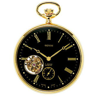 I hang whole world /2090GPBK Unitas6497 EPOS エポス and present the sale kind pocket watch with the clock watch domestic regular article watch WATCH maker guarantee