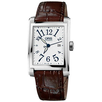 Sale kind present with the whole world / 58376574061F rectangular date white dial Arabic index ORIS cages men watch watch watch WATCH maker guarantee