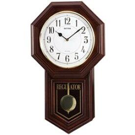【クーポン利用で1600円OFF】4MJA03RH06ベングラーR RHYTHM リズム クォーツ柱時計(報時音4タイプ選択式) 掛け時計 送料無料 プレゼント