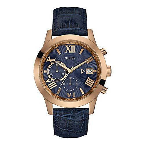 W0669G2 GUESS ゲス 腕時計 ATLAS アトラス メンズ 青文字盤 ブルー 青 ピンクゴールドコンビ プレゼント