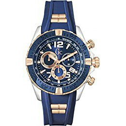 Y02009G7 GC ジーシー ゲスコレクション Sport Recer アナログ クロノグラフ 青 ブルー シリコンラバーバンド メンズ 腕時計 国内正規品 送料無料 プレゼント