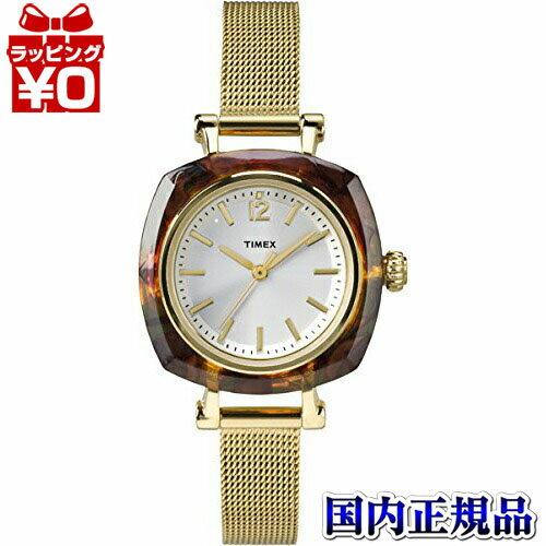 国内正規品 TW2P69900 TIMEX Helena タイメックス ヘレナ 38mm マンハッタン GLD ゴールドメッシュブレス レディース腕時計 樹脂製べっ甲柄 鼈甲 ベッコウ おしゃれ かわいい