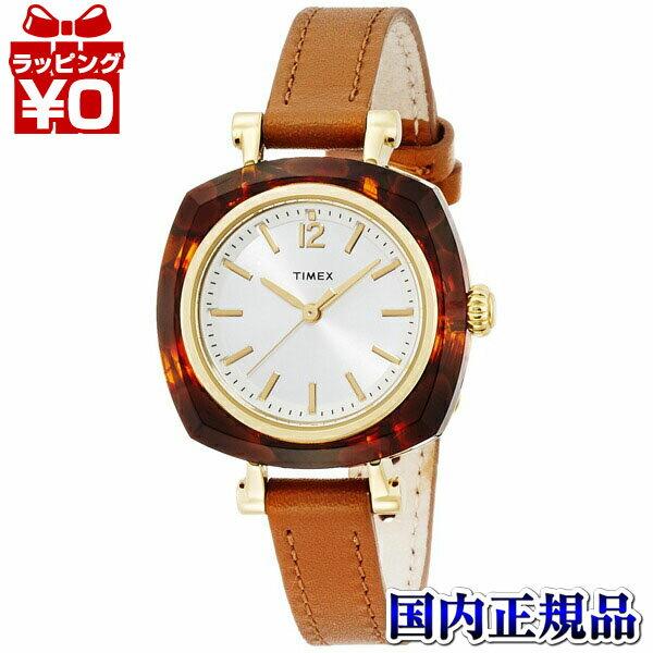 【エントリーでさらにポイント10倍】べっ甲柄 TW2P70000 TIMEX タイメックス ヘレナ 革バンド アナログ クオーツ アセテート 国内正規品 マンハッタン GLD BRNストラップ レディース腕時計 おしゃれ かわいい