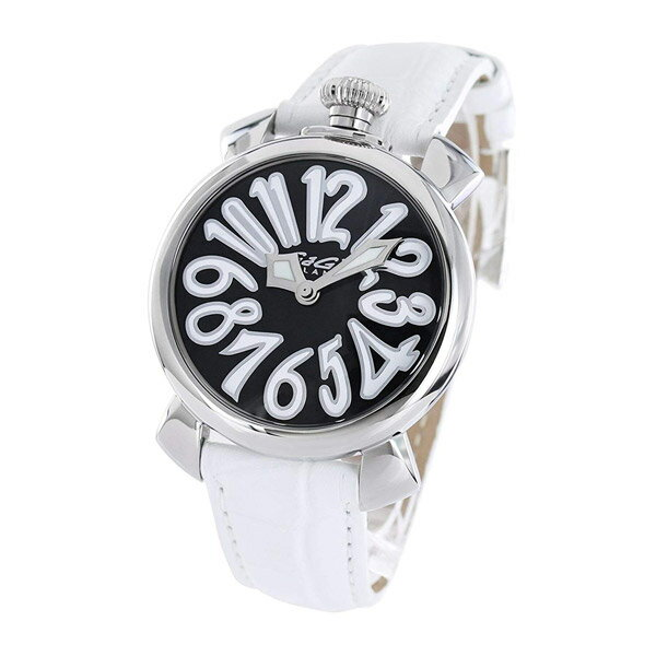 5020.4 GaGa MILANO ガガミラノ MANUALE マヌアーレ40mm メンズ 腕時計 送料無料 プレゼント白黒 ブラック ホワイト パンダカラー