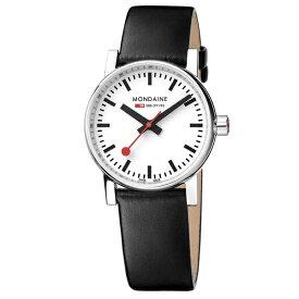 MSE.30110.LB MONDAINE モンディーン スイス 鉄道時計 エヴォ2 30mm ブラック レディース 腕時計 国内正規品 送料無料
