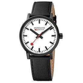 MSE.40111.LB MONDAINE モンディーン スイス 鉄道時計 エヴォ2 40mm ブラック メンズ 腕時計 国内正規品 送料無料 ミリタリー
