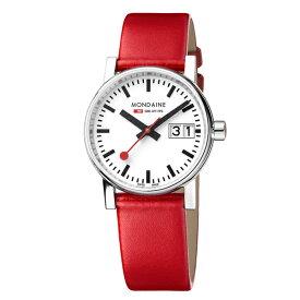MSE.30210.LC MONDAINE モンディーン スイス 鉄道時計 エヴォ2 ビックデイト 30mm レッド レディース 腕時計 国内正規品 送料無料