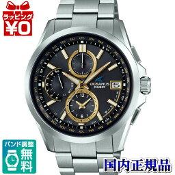OCW-T2600-1A3JF OCEANUS oshianasukashio CASIO古典線黑色黄金人手錶國內正規的物品