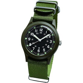 ALW-46374-3VG ALPHA INDUSTRIES アルファインダストリーズ カーキ ブラック ナイロン シンプル MA-1に合う カジュアル タウンスタイル 腕時計 時計 定番 ベトナムウォッチ アナログ 36mm ユニセックス 男女兼用腕時計 国内正規品 送料無料