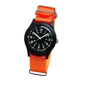 ALW-46374-1OR ALPHA INDUSTRIES アルファインダストリーズ ブラック オレンジ カラフル 腕時計 時計 MA-1に合う 雑貨 小物 ベトナムウォッチ アナログ 36mm ユニセックス 男女兼用腕時計 国内正規品 送料無料
