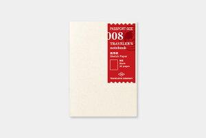 【トラベラーズノート】デザインフィル画用紙リフィル 008008 Sketch Paper Notebook14327-006【パスポートサイズ】