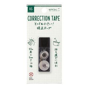 【おしゃれなスクエア型!】デザインフィル ミドリXS 修正テープ35262_35263_35264_35265-006【世界最小クラスの修正テープ】