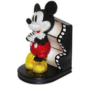 【在庫処分】【20%OFF】ディズニー【ミッキーマウス90周年】サンスター文具ブックエンド スワロフスキーミッキーマウスS2535793【数量限定レア商品】