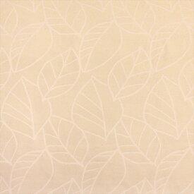 (カーテン生地測り売り)【単価10cm:注文10(1m)以上】(エアリーフ)ドイツ製 ナチュラルな生成りカラーのさりげないリーフ柄236701