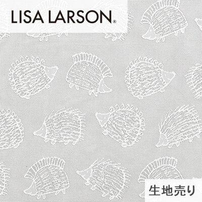 (カーテン生地測り売り)リサラーソンレース生地ハリネズミ/北欧スウェーデンLISALARSON/ホワイト