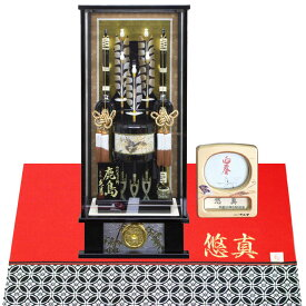 久月 家紋入り破魔弓 18号 鹿島(高さ65cm)