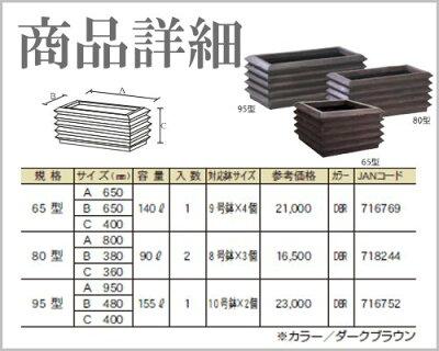 【送料無料】【大和プラスチック】アゼクラプランター95型