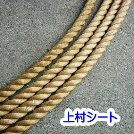 カット販売 直径38mm 綱引きロープ 綱 ロープ 麻 ロープ マニラロープ