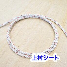 レンジャーロープ レスキュー用ロープ カット販売 東京製綱 直径12mm M打ち白 赤線2本入り