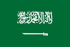 サウジアラビア 国旗 アクリル生地 90x135cm