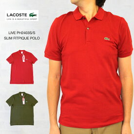 3db5082d64705 LACOSTE LIVE ラコステ ライブ PH2403 S S SLIM FIT PIQUE POLO スリムフィット ピケ(
