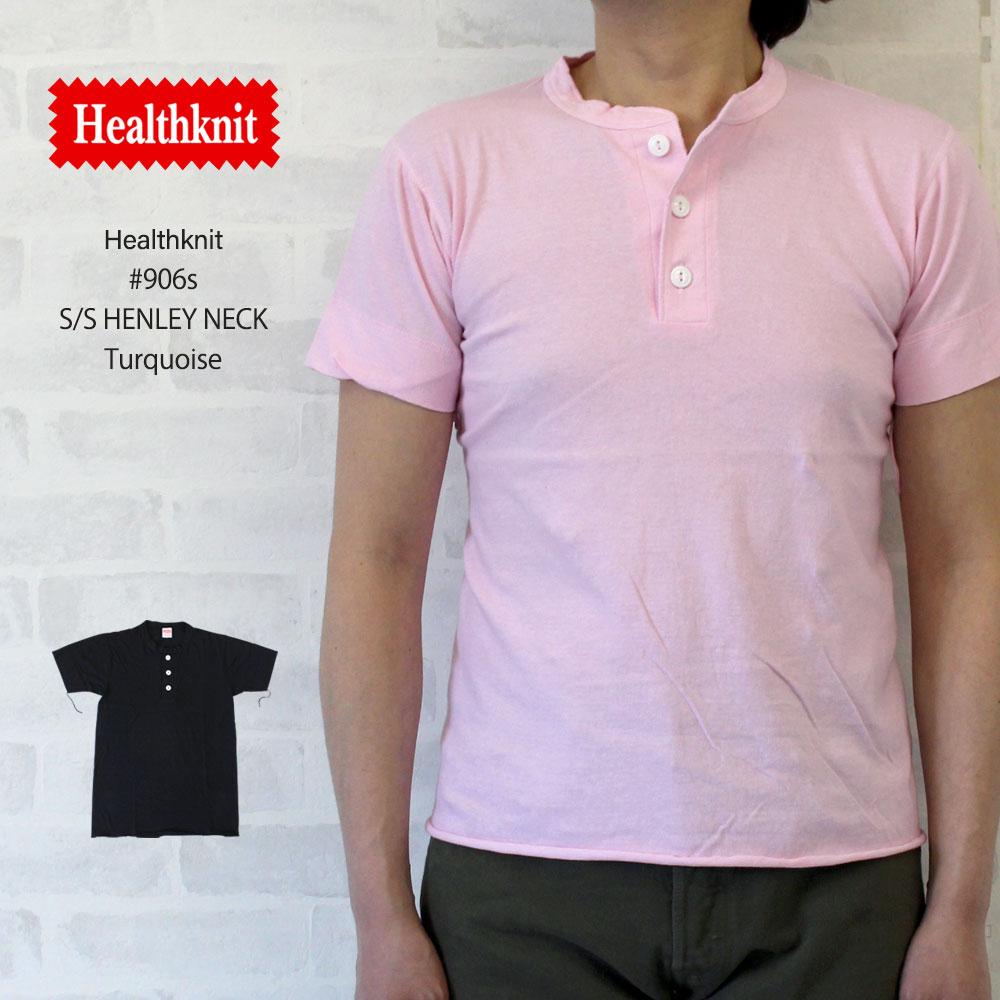 ヘルスニット Healthknit #906S S/S Henley Neck 半袖ヘンリーネックTシャツ 全20色【ブラック】/ヘルスニット Healthknit #906S 半袖ヘンリーネックTシャツ ヘルスニット Healthknit #906S 半袖ヘンリーネックTシャツ