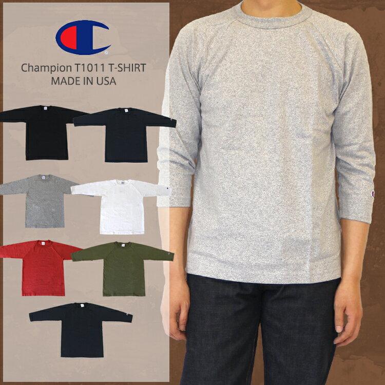 Champion  チャンピオン T1011 MADE IN USA (アメリカ製)ラグラン7分袖 無地 Tシャツ (C5-U401)/Champion チャンピオン T1011 ラグラン7分袖 無地 Tシャツ Champion チャンピオン T1011 ラグラン7分袖 無地 Tシャツ Champion チャンピオン T1011
