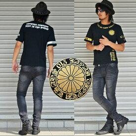 Tシャツ 半袖 メンズ 半袖Tシャツ 半袖Tシャツ Chaostheory ブラックストリート ストリート カジュアル きれいめ キレイメ ロック M L XL ゴールド ホワイト